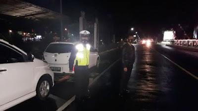 Satlantas Polres Minahasa Gencarkan Patroli Serta Imbauan Prokes Malam Hari