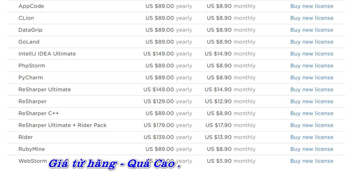 Bán Acc bản quyền Jetbrains giá rẻ, theo Email chính chủ của Khách Hàng.
