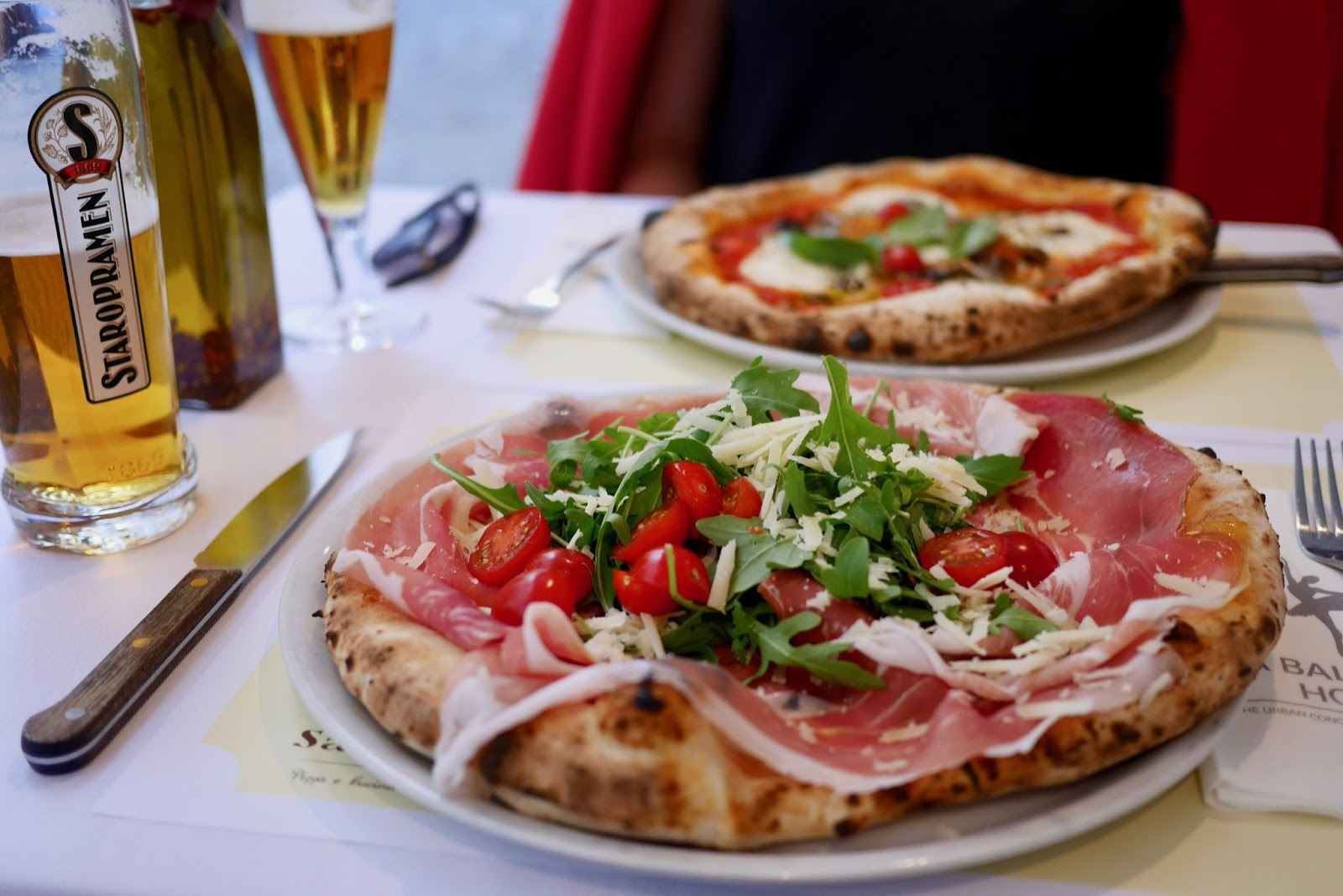 incredible pizza at the authentic Italian San Carlo in Prague, CalMcTravel.com