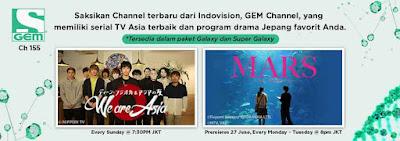 GEM Channel Kini Tersedia Di Indovision
