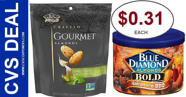 Blue Diamond Almond CVS Deal $0.31 12-15-12-21