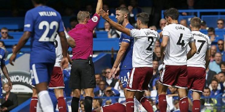 2 Kartu Merah Warnai Kekalahan Chelsea Atas Brunley