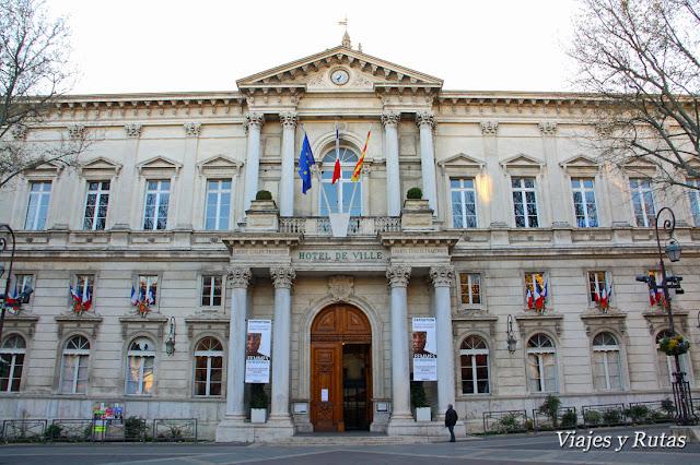 Ayuntamiento, plaza del Reloj, Avignon