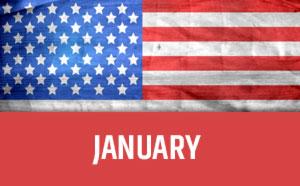 January usa calendar
