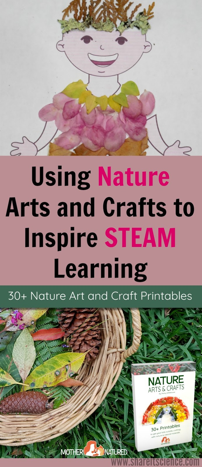 Share it science using nature arts and crafts to for Science arts and crafts