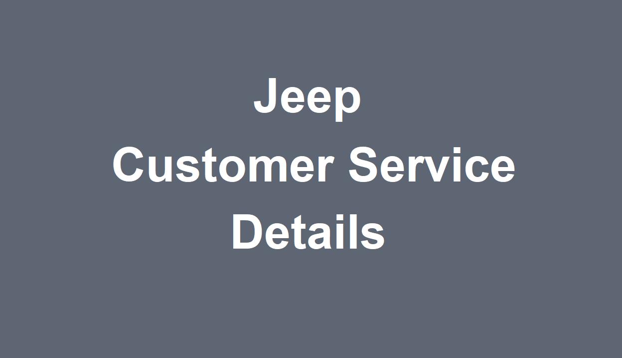 Jeep Customer Service Number