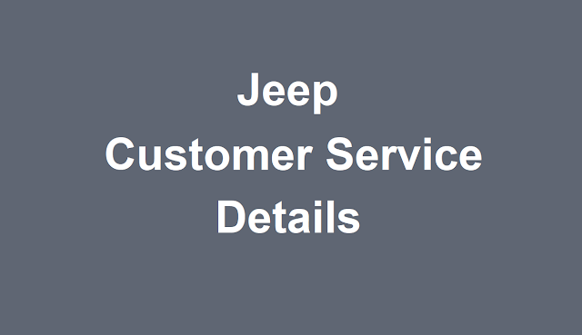 Jeep Customer Service Number