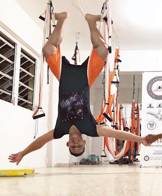 yoga fly flying