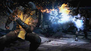 Fight between Scorpion and Subzero