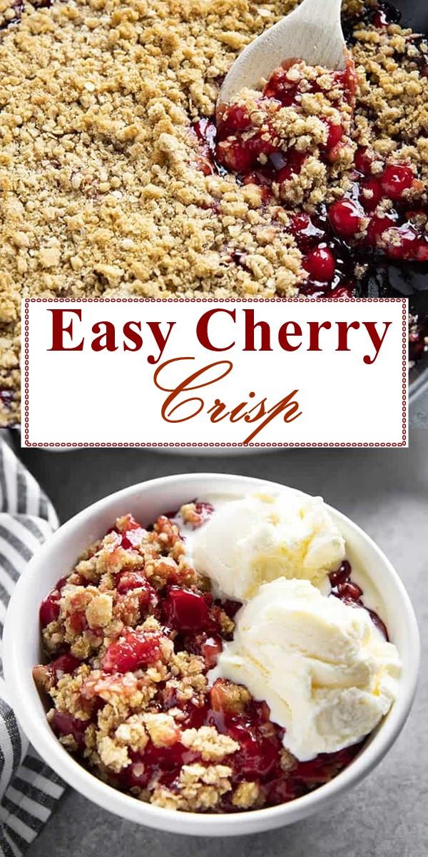 Easy Cherry Crisp #dessertrecipes