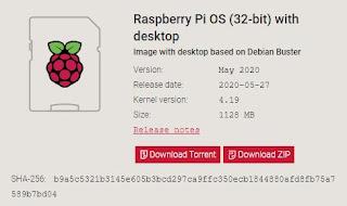 Raspberry Pi OS (32-bit) with desktop