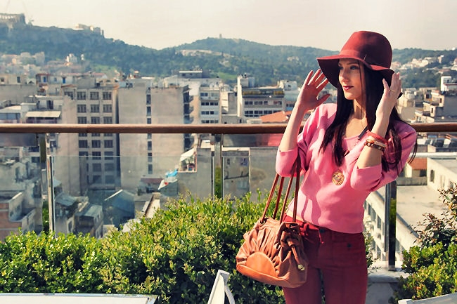 best burgundy and pink outfit combinations