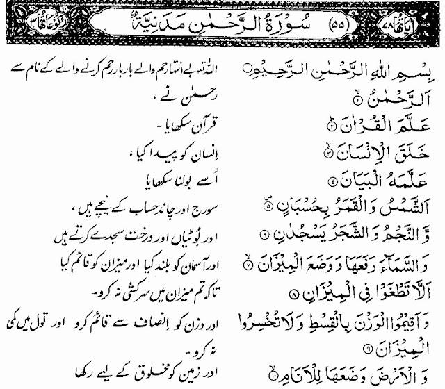 surah rahman pdf
