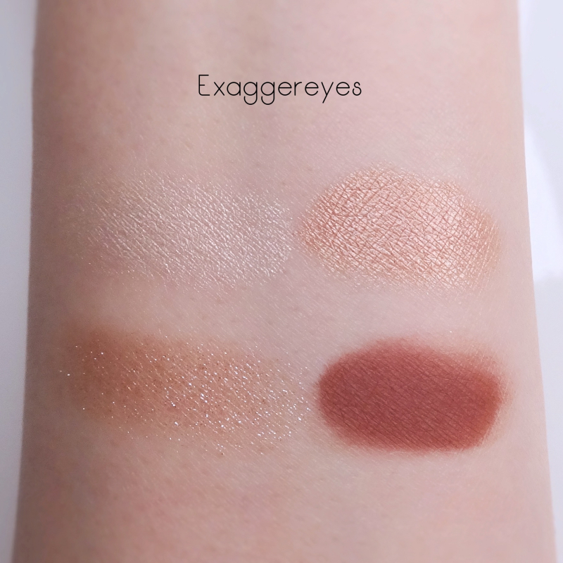 Charlotte Tilbury Exagger Eyes swatches