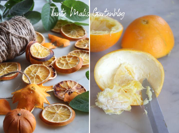 selbst getrocknete Orangenscheiben