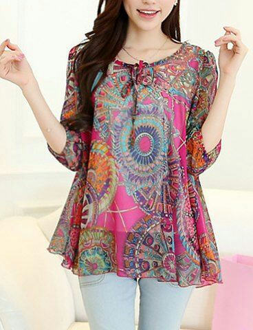 Colourful chiffon