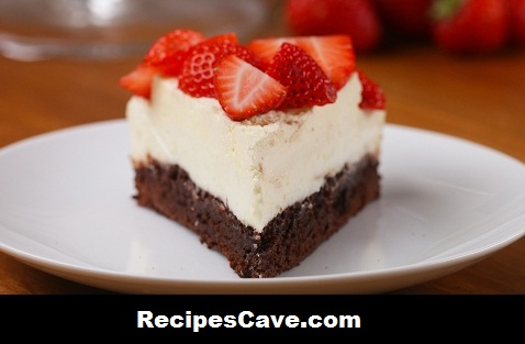 Strawberry Brownie Cheesecake Recipe