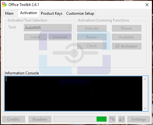 Activando producto con Microsoft Toolkit.