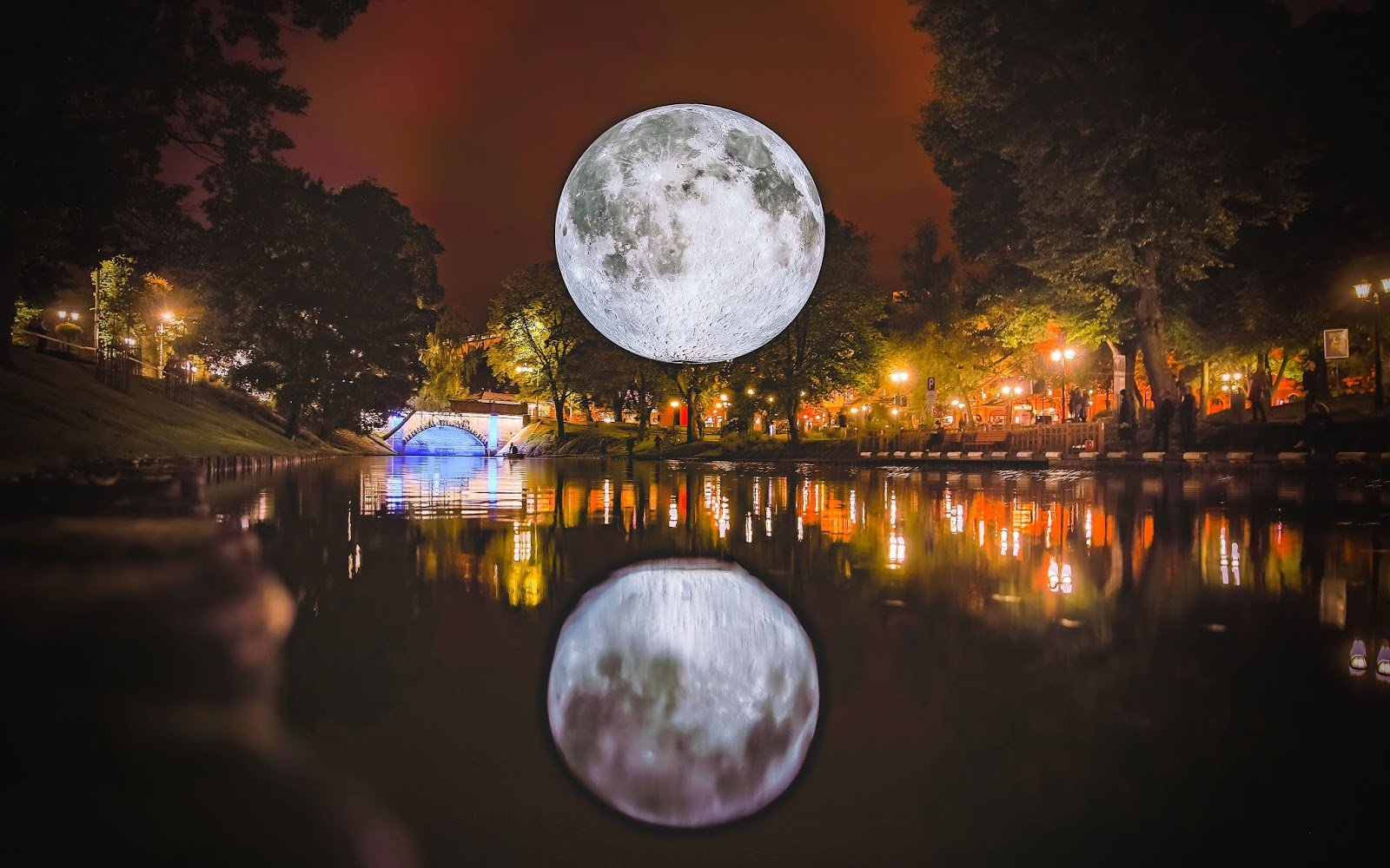 Brand New Light Show in Teesside - Nightfall 2019 By The Light of the Moon at Preston Park Museum and Grounds