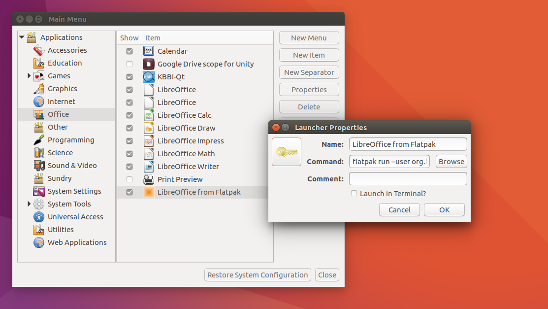 How To Create Menu Icon in Ubuntu for Installed Flatpak Application