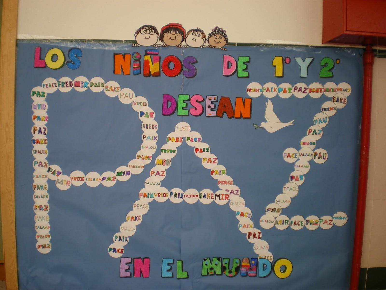 Recursos Y Actividades Para Educación Infantil Actividad Mural Día De La Paz