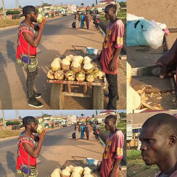 This coconut seller is not here for jokes (photos)