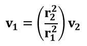 Expresión de velocidad en el punto 1 del ejemplo 1