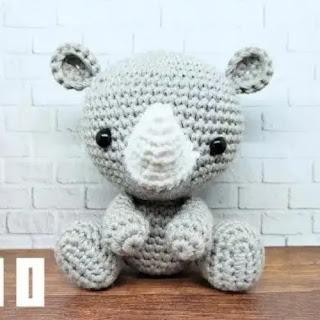 Amigurumi Rinoceronte a Crochet