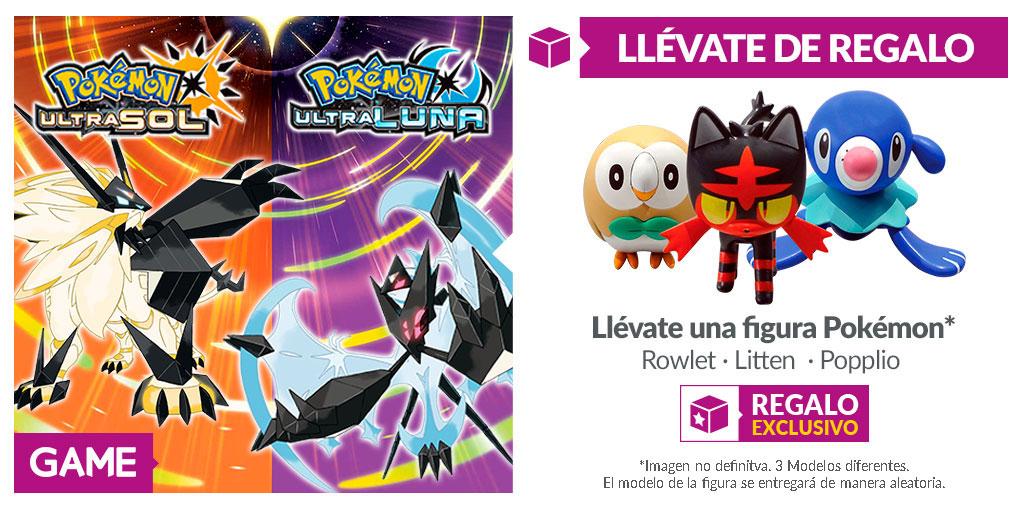 Hazte con tu primer inicial (figura) con la reserva de GAME de Pokémon UltraSol y UltraLuna
