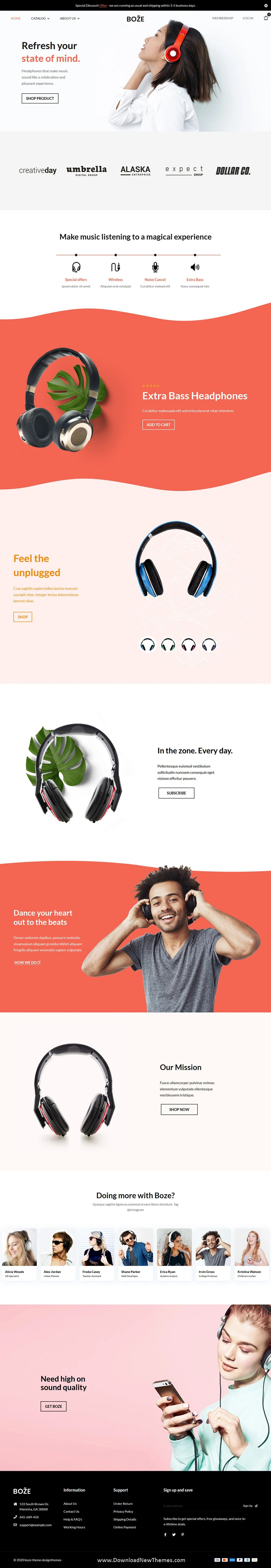 Headphone and Audio Store Shopify Theme