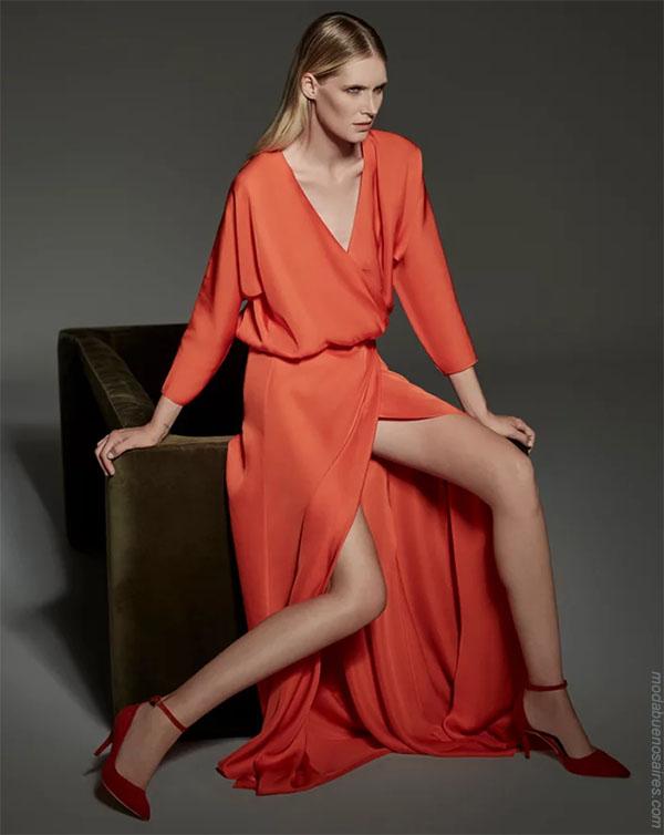 Vestidos de mujer invierno 2018 ropa de moda.