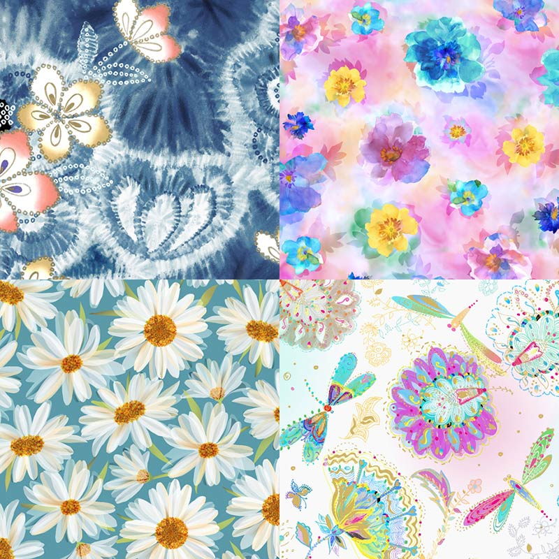 floral quilt fabrics from QT Fabrics releasing in 2020