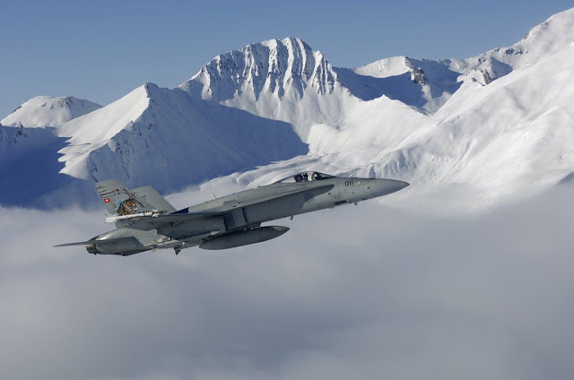SWISS FIGHTER JETS PROTECT THE WORLD ECONOMIC FORUM 2017