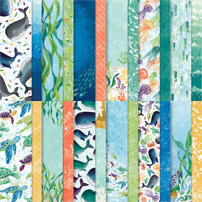 sea life paper, Whale Of A Time Designer Series Paper, 12x12 paper, patterned paper, paper sale, craft supplies sale, craft sale, stampin' up! sale, designer series paper sale, nicole steele, the joyful stamper, independent stampin' up! demonstrator from pittsburgh pa