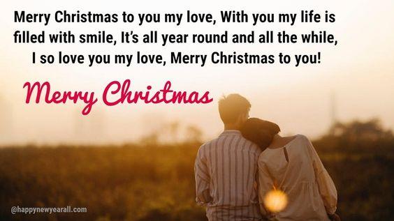 Romantic Christmas Message for boyfriend