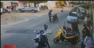 Câmera de segurança flagra assassinato de homem em Juru, assista