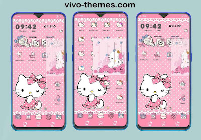 Hello Kitty Apples Theme For Vivo Android Smartphones