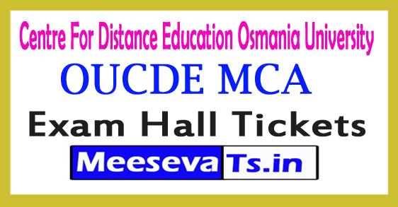 OUCDE MCA (I II/ III Yr) Annual Exam Hall Tickets Aug 2017