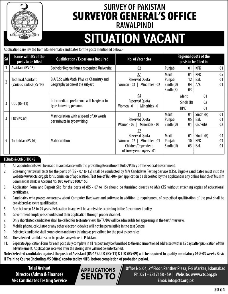 Pakistan Jobs, Jobs in Rawalpindi,Jobs in Punjab,