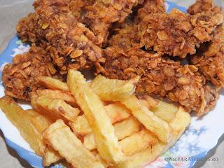Pui KFC cu cartofi prajiti reteta,
