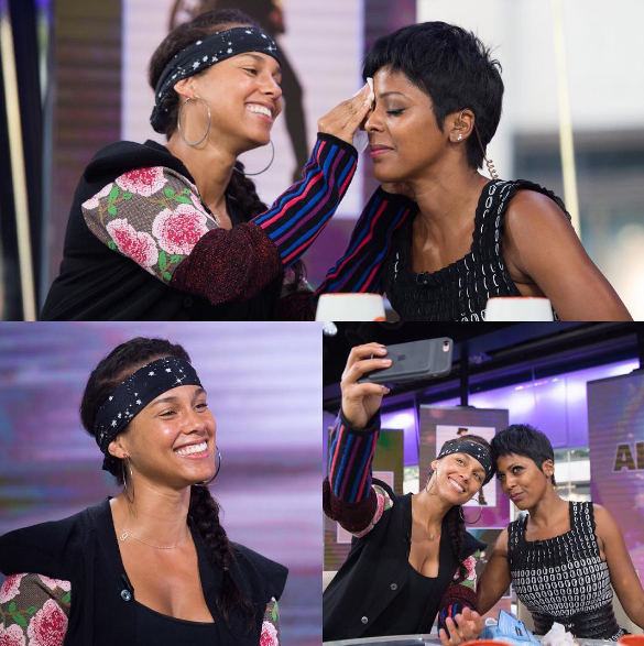 Alicia Keys Wiped Off Tamron Hall's Makeup This Morning on Live TV