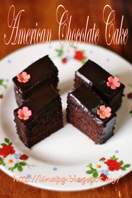 Kek Coklat Moist sedap, kek coklat mudah nak buat, kek coklat guna bahan simple