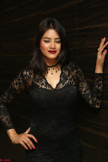 Actress Monica in spicy transparent Black Top at O Pilla Nee Valla Movie Audio Launch Feb 2017 066.JPG