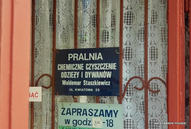 Warszawa Warsaw szyld retro tabliczka pralnia mokotów