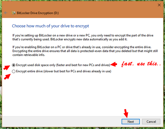 encrypt-disc-space-usb-drive