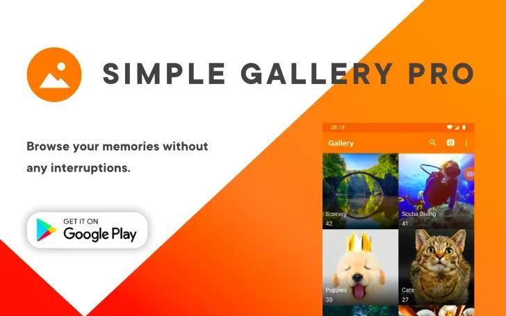 Simple Gallery Pro المعرض البسيط (Pro) - محرر ومدير الصور يساعدك على تنظيم وإدارة ملفات الوسائط على هاتف Android بطريقة علمية ومنظمة.