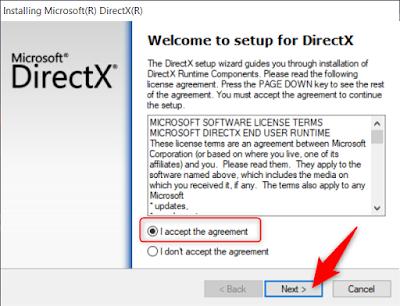 تحديث ال DirectX
