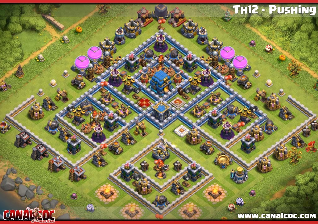 ➥ BASE TH12 - PUSHING #1129 - Canal CoC