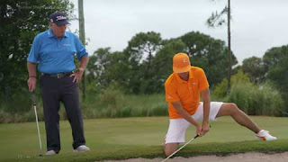 Butch with Rickie on knees beside bunker