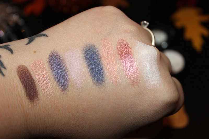 Youngblood Eyeshadow Duos Holiday 2015 swatches